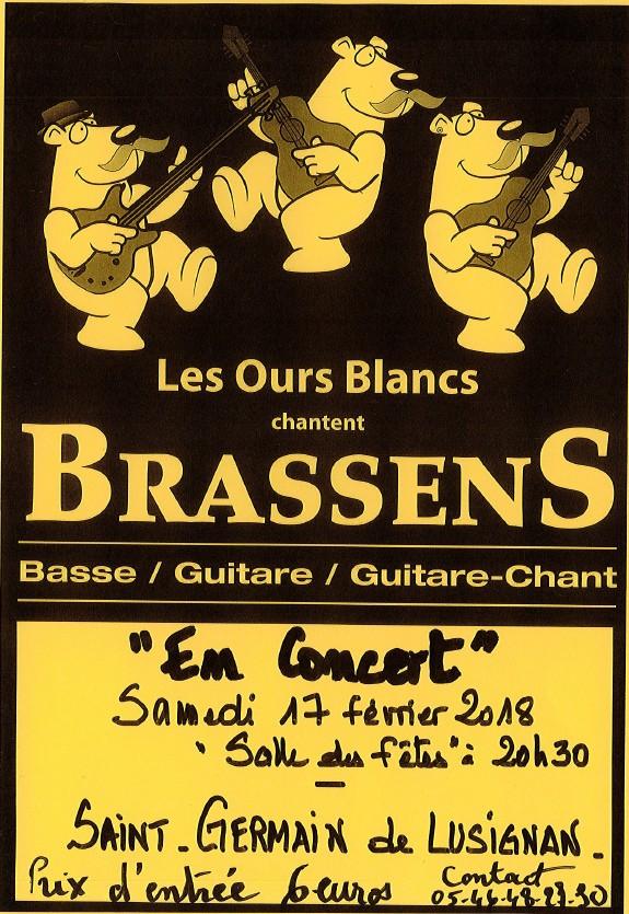 Concert Brassens – 17 février